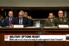 Mattis calls on U.S. Army to be ready for military action against North Korea