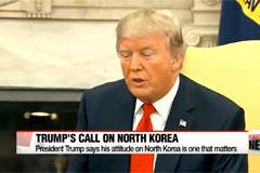 Trump says his attitude on North Korea is one that matters