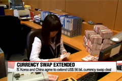 S. Korea and China agree to extend currency swap deal