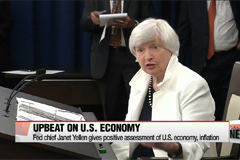 Fed Chair Yellen upbeat on economy and inflation expectations