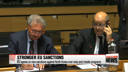 EU agrees on new sanctions against North Korea over nuke and missile...