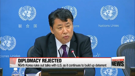 North Korea's UN envoy rules out diplomacy with United States
