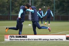 South Korea's national soccer team falls to 62nd in October FIFA rankings
