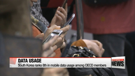 South Korea ranks 8th in mobile data usage among OECD member countries