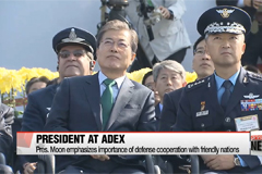 President Moon Jae-in calls for export-oriented arms development