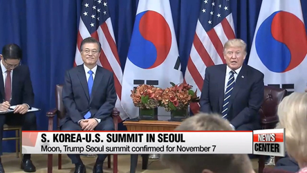 Blue House confirms U.S. President Donald Trump's two-day state visit to South K...