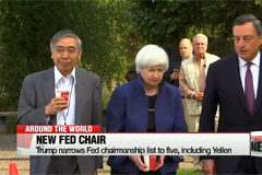 Trump narrows Fed chairmanship list to five