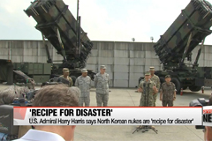 Top U.S. commander says North Korean nukes are 'recipe for disaster'