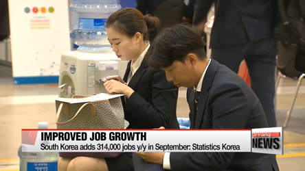 South Korea adds 314,000 jobs y/y in September