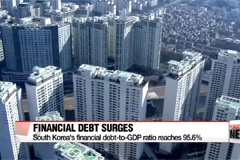 S. Korea's financial debt-to-GDP ratio closing in on 100%