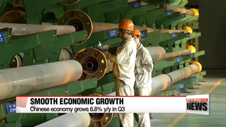 Chinese economy expands 6.8% in Q3; Chinese Pres. Xi hopes for quality growth