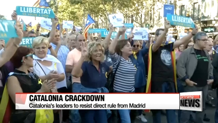 Catalonia's leaders to resist direct rule from Madrid