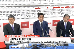 Japan's Abe on course for landslide victory: exit polls