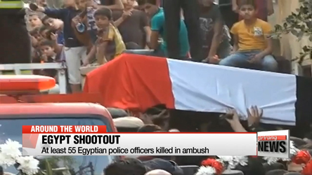 At least 55 Egyptian police officers killed in ambush