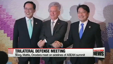 Defense chiefs of South Korea, U.S., Japan agree on further cooperation against North Korea