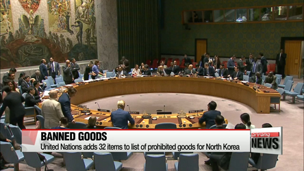 United Nations adds 32 items to list of prohibited goods for North Korea