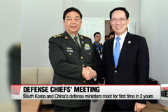 South Korea and China's defense ministers meet for first time in 2 years