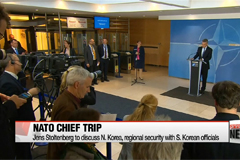 NATO Secretary General to visit S. Korea to discuss regional security issues