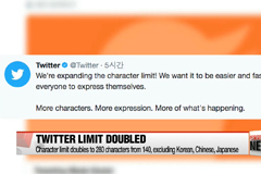 Twitter character limit increased to 280-character tweets, with exception of Korean, Chinese, Japanese
