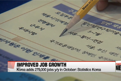Employment figures improve in October
