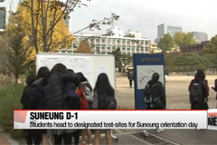Students head to designated test-sites for Suneung orientation day