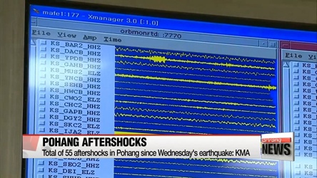 Three more aftershocks following the 5.4 Pohang earthquake