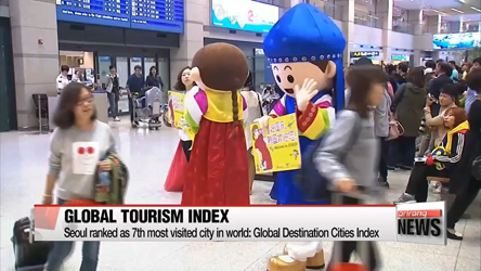 Seoul is 7th most visited city in the world