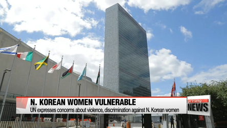UN expresses concerns about N. Korean women being vulnerable to domestic and sexual violence