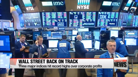 Wall Street back on track to reach record high closing
