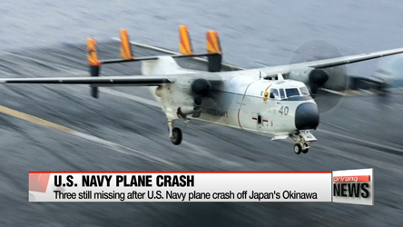 Three still missing after U.S. Navy plane crash off Japan's Okinawa