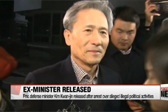 Ex-defense minister released after arrest over alleged illegal political activities