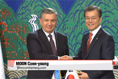 South Korea-Uzbekistan bilateral summit takes place at Seoul's Blue House