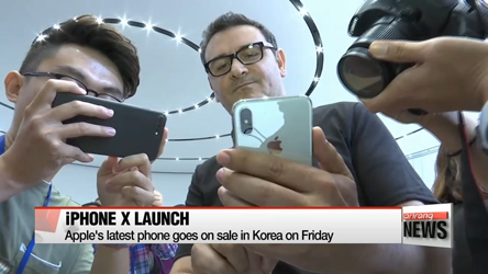 Apple's iPhone X to launch in Korea Friday
