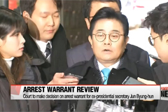 Court to make decision on arrest warrant for ex-presidential secretary Jun Byung-hun