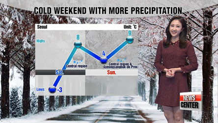 Precipitation through the weekend