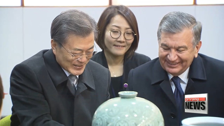 Uzbek President spends last full day in Seoul, cultivating friendship with S. Korea
