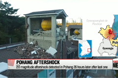 Another aftershock detected in Pohang