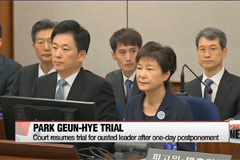 Trial for former president Park Geun-hye resumes