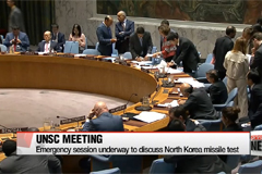 UN Security Council holds emergency session over North Korea's missile test