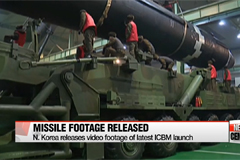 N. Korea releases footage of latest ICBM launch