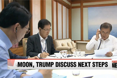 Moon, Trump discuss next steps to respond to N. Korea's latest provocation