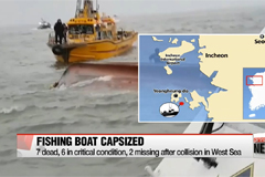 7 dead after fishing vessel sinks off the western coast of South Korea