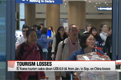 S. Korea tourism sales down US$6.9 bil. from Jan. to Sept. on China losses