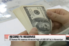 South Korea's FX reserves hit new record high