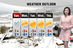 Cold to ease this weekend, with snow on Sunday