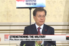 Pres. Moon invites top military officials, urges efforts to deter Pyongyang's threats