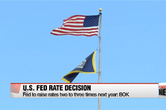 BOK expect U.S. Fed to raise rates up to three times next year