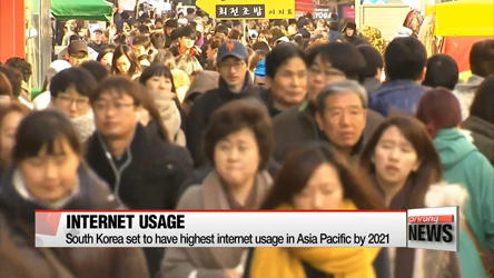 South Korea to be leading internet user in Asia-Pacific by 2021