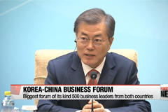 President Moon calls for future-oriented economic cooperation with China