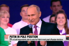 Poll shows vast majority of Russians plan to vote for Putin